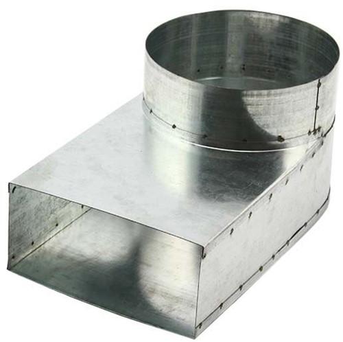 Rohranschluss 165x80 nach Ø 125 mm