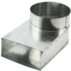 Rohranschluss 220x80 nach Ø 160 mm