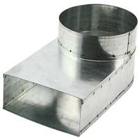 Rohranschluss 220x80 nach Ø 125 mm