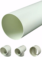 Lüftungsrohre und Formteile Kunststoff