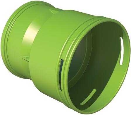 Ubbink-Adapter DBOX auf Rundrohr Ø 90/75