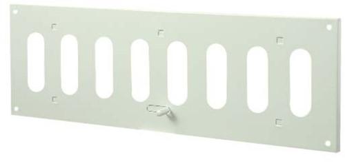 Spaltgitter rechteckig Metall mit beweglichen Lamellen 300x100 MR3010R