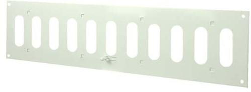 Spaltgitter rechteckig Metall mit beweglichen Lamellen 400x100 MR4010R