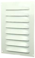 Spaltgitter rechteckig Metall 140x190mm Weiß MR1419