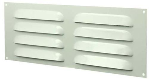 Spaltgitter rechteckig Metall 260x105mm Weiß MR26105
