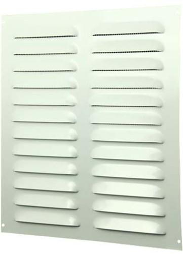 Spaltgitter rechteckig Metall 260x280mm Weiß MR2628