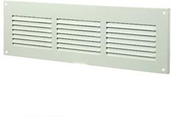 Spaltgitter rechteckig Metall 300x100mm Weiß MR3010