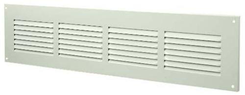 Spaltgitter rechteckig Metall 400x100mm Weiß MR4010