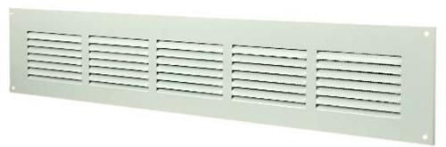 Spaltgitter rechteckig Metall 500x100mm Weiß MR5010