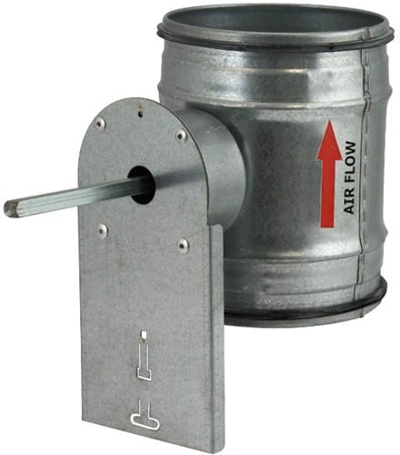 Motorisiertes Regelklappe Ø100mm für Wickelfalzrohre.