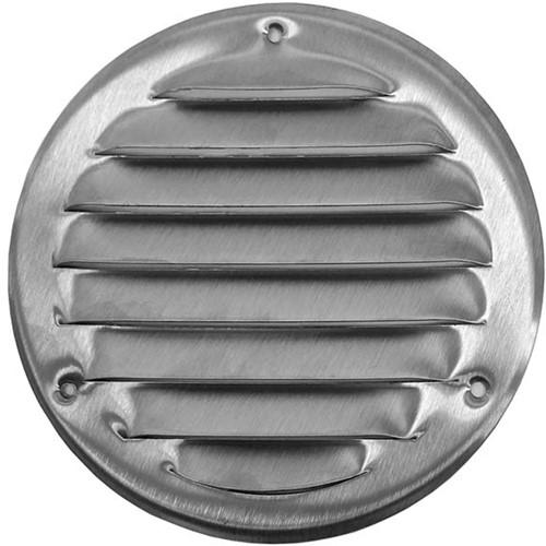 Lüftungsgitter Metall rund Zink Ø100mm MR100ZN
