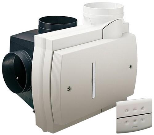 Orcon Compact 10RHB 360m3/h mit Feuchtigkeitssensor und RFT Bedienung - Netzstecker