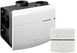 Orcon MVS 15RHB 520m3/h  Wohnraumlüftungsanlage mit Feuchtigkeitssensor und RFT Bedienung - Netzstecker