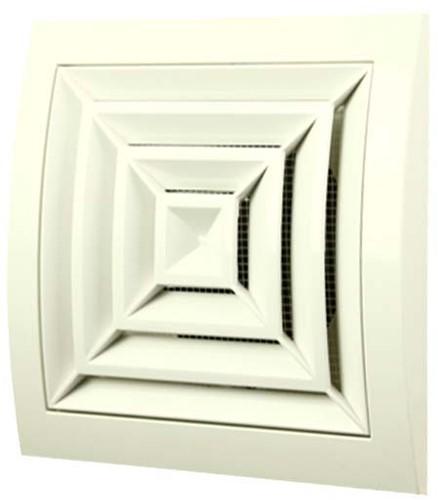 Deckengitter quadratisch 150x150mm Ø100mm Weiß ND10G