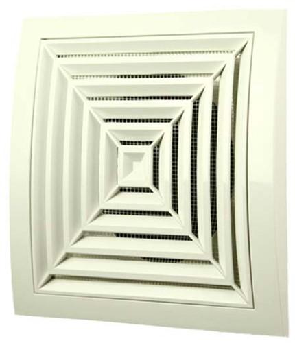 Deckengitter quadratisch 190x190mm Ø125mm Weiß ND12G