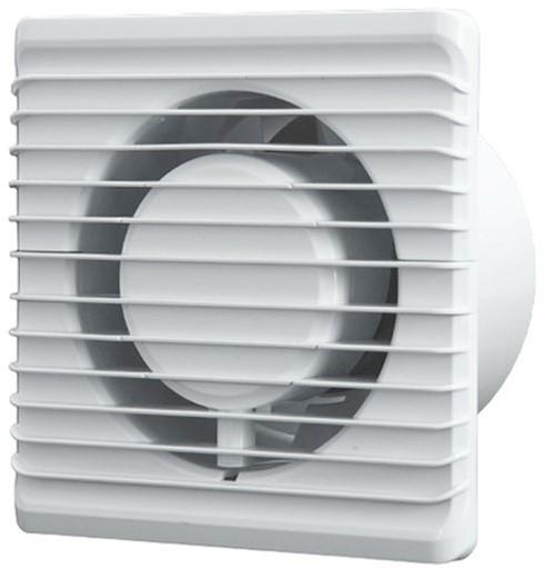 Badlufter O100mm Weiss Energieeffizient Und Still Mit Feuchtigkeitssensor Und Timer 100hs