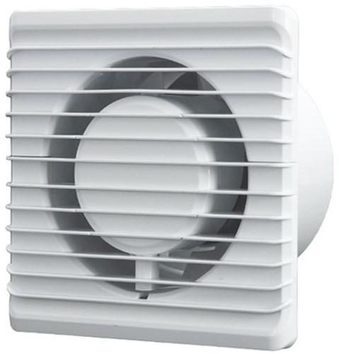 Badlüfter Ø100mm energieeffizient und still mit Feuchtigkeitssensor und Timer Weiß 100HS