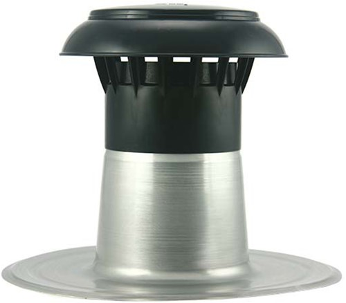 Flachdach Entlüftung mit Kunststoffkappe Ø90-100 mm