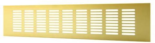 Sockelgitter Aluminium Gold 400x100mm RA1040G