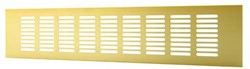 Sokkelgitter Aluminium Gold 500x60mm RA650G