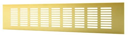 Sockelgitter Aluminium Gold 500x60mm RA650G