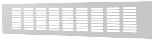 Sockelgitter Aluminium Weiß 400x60mm RA640