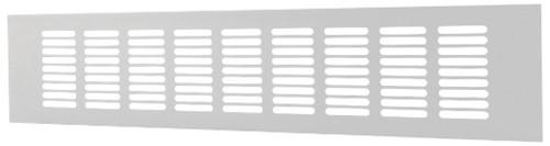 Sockelgitter Aluminium Weiß 400x80mm RA840