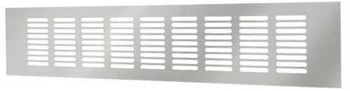 Sockelgitter Aluminium Silber 100x400mm RA1040S