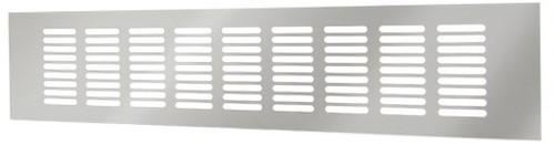 Sockelgitter Aluminium Silber 400x60mm RA640S