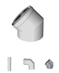 Konzentrische Luft-Abgassysteme PPH Stahl