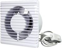 Badlüfter Ø125mm energieeffizient und still mit Stecker und Schalter Weiß 125PS-2