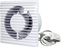 Badlüfter Ø100mm energieeffizient und still mit Stecker und Schalter Weiß 100PS-2