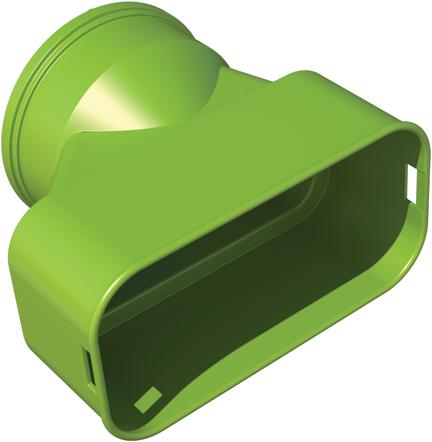 Ubbink-Adapter DBOX auf Flachoval 60x132