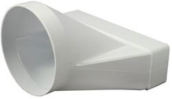 Reduzierstück Kunststoff rechteckig 220x55mm nach rund Ø 125 mm KSD25-125