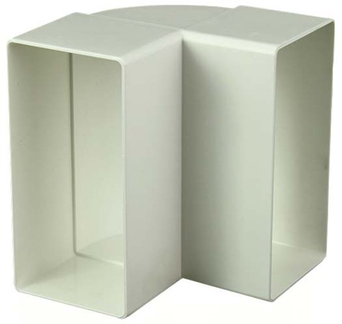 Bogen für Flachkanal 90° Kunststoff Vertikal 110x55 KLV