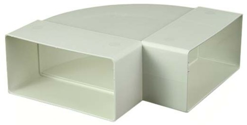 Bogen für Flachkanal 90° Kunststoff Horizontal 110x55 KLH