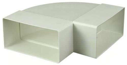Bogen für Flachkanal 90° Kunststoff Horizontal 220x55mm KLH25-90