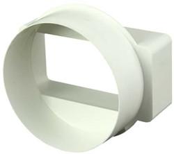Reduzierstück Kunststoff nach rund 110x55 - Ø 100 mm KSD1