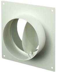 Wandplatte mit Rückschlagklappe Kunststoff Ø 125 mm AFV125