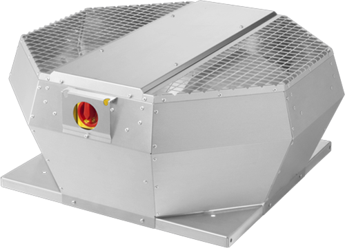 Ruck Dachventilator Metall mit EC Motor, Geräteschalter und Konstantdruckregelung 5550m³/h - DVA 450 ECCP 31