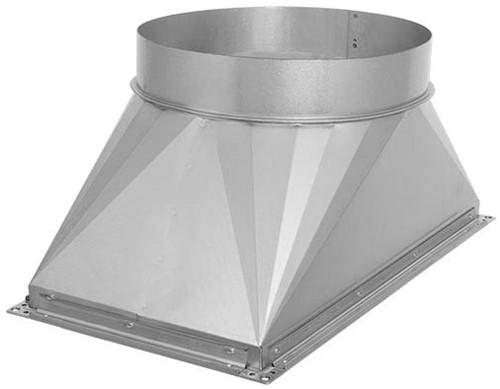 Ruck® Übergang Kanal/Rohr - 800x500 - Ø500 mit Gummi (UKR 8050 03)
