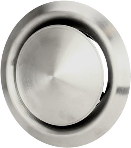 Edelstahl Zu- und Abluftventil Ø 100 mm mit Montagering - DVI100