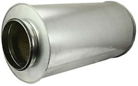 Schalldämpfer Durchmesser 400 mm - Länge 1200 mm (50 mm Isolierung)