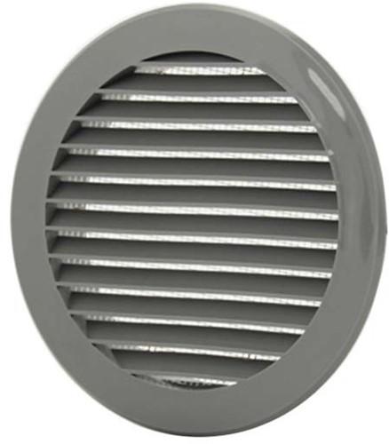 Lamellengitter Kunststoff Grau rund Ø100mm VR100P