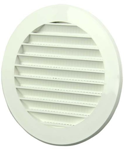 Lamellengitter Kunststoff Weiß rund Ø100mm VR100