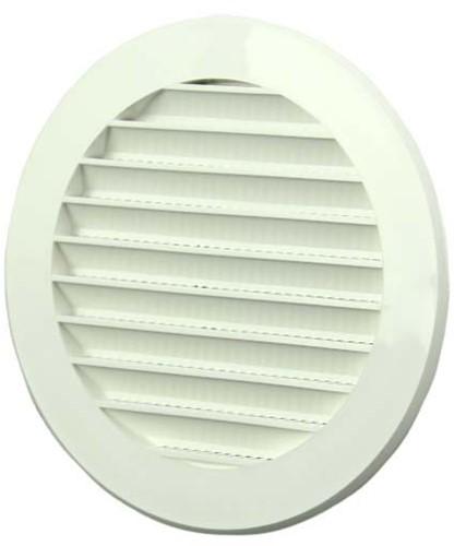 Lamellengitter Kunststoff Weiß rund Ø125mm VR125