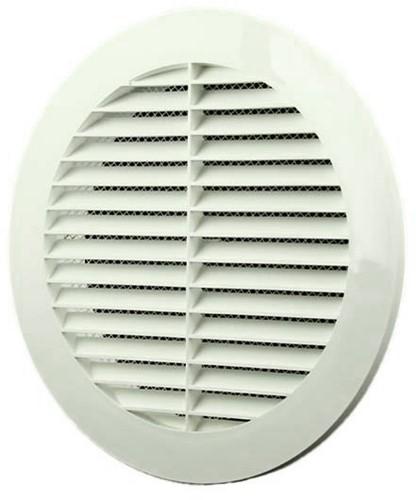 Lamellengitter Kunststoff Weiß rund Ø150mm VR150