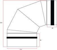 Wickelfalz Bogen 90° Ø315 mm-2