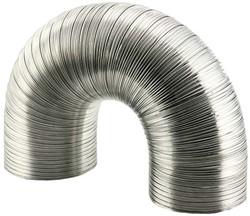 Lüftungsschlauch 100 mm Aluminium semi-flexibel (1,5 Meter)