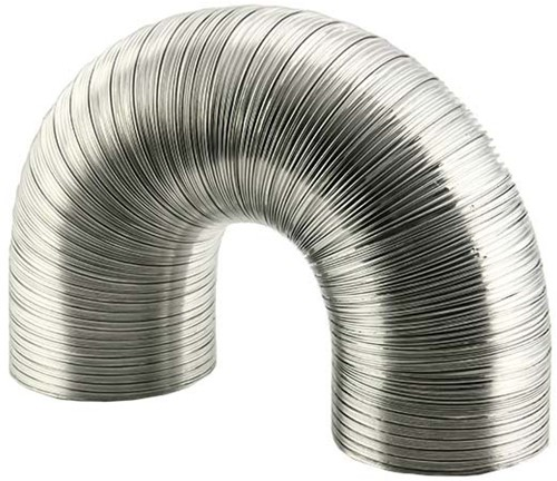 Lüftungsschlauch 120 mm Aluminium semi-flexibel (1,5 Meter)